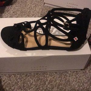 LC Lauren Conrad black sandals